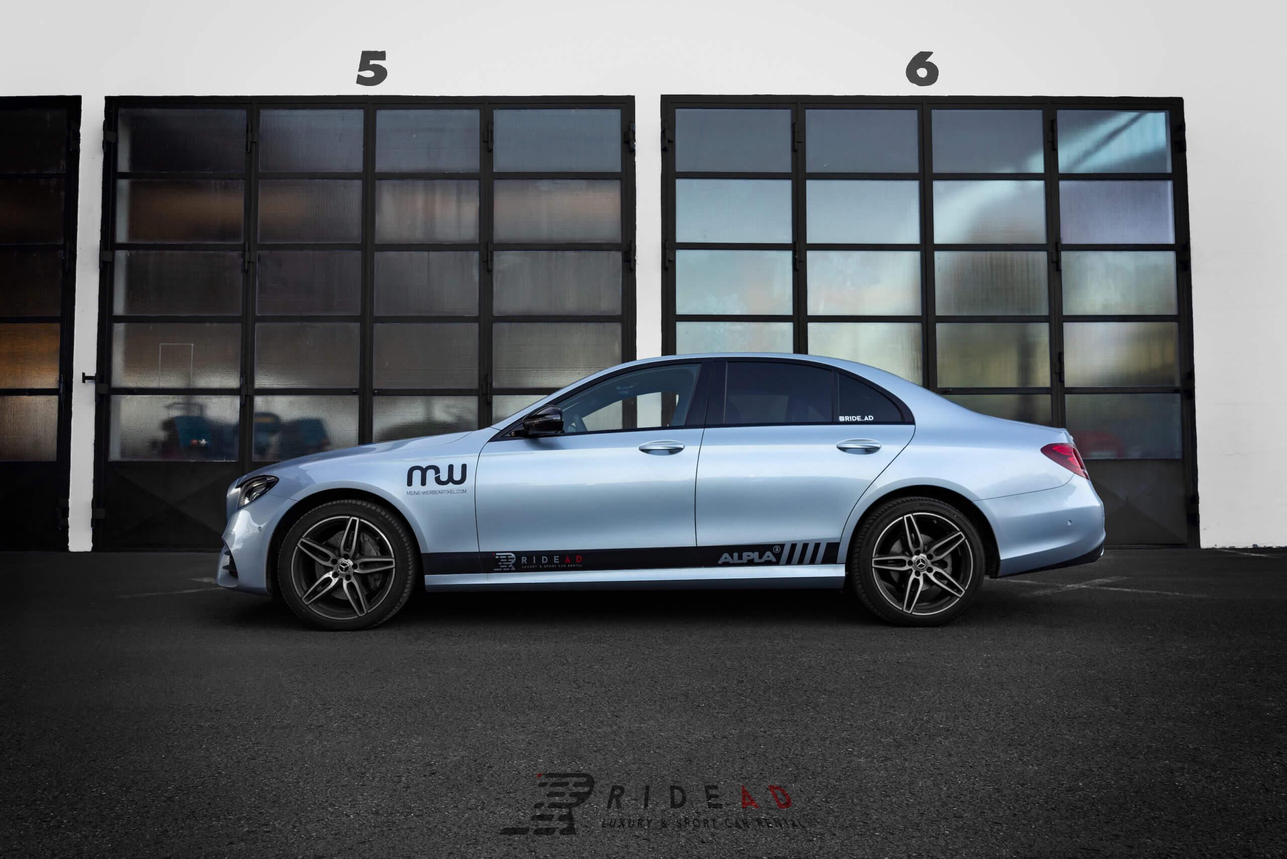 Ride Ad Luxury and Sports Car Rental - Mercedes-Benz E220d Kurzzeitmiete 3